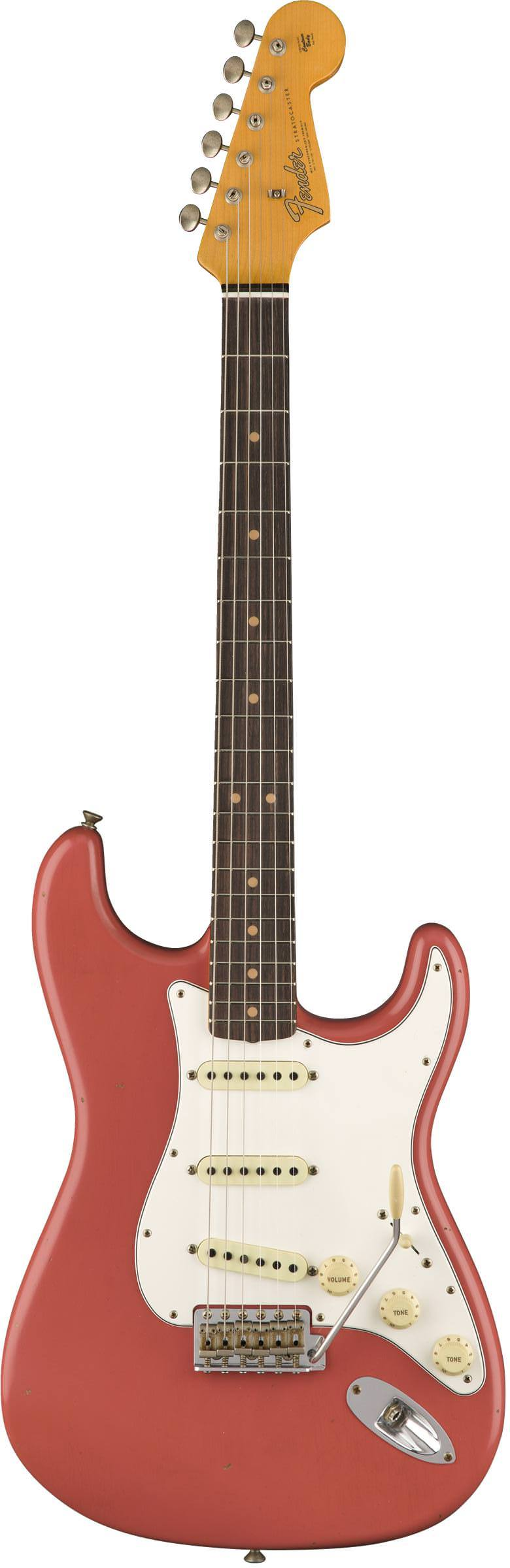 FENDER 2018 JOURNEYMAN RELIC® 1964 STRATOCASTER® - SUPER FADED/AGED FIESTA RED