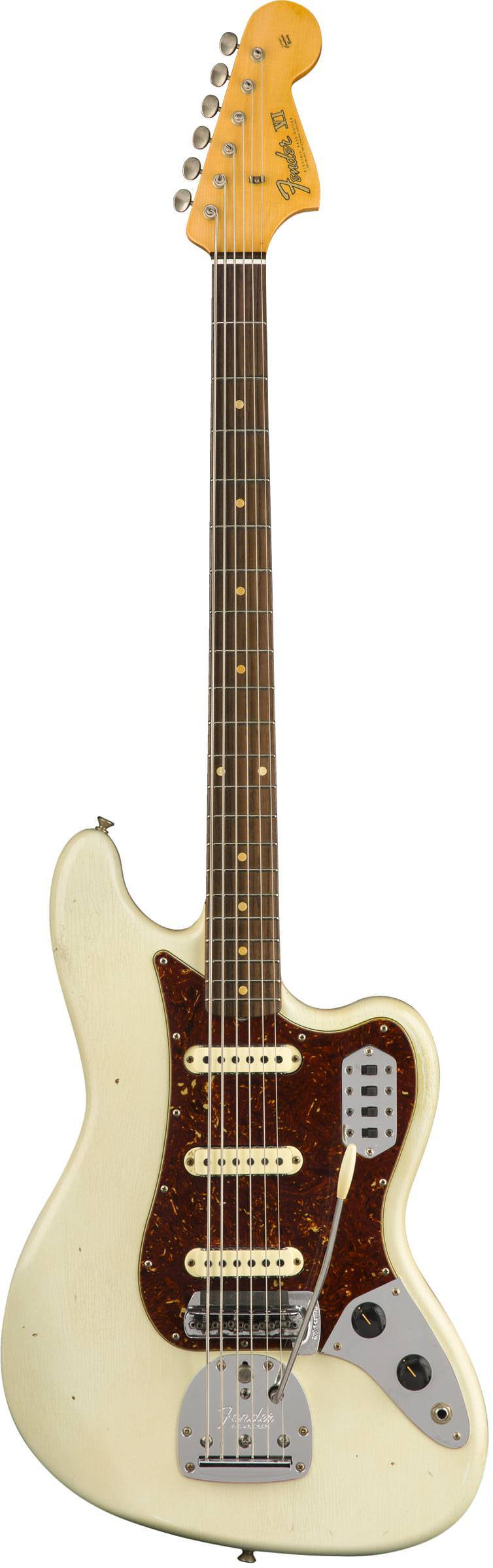 FENDER 2018 JOURNEYMAN RELIC® BASS VI - AGED OLYMPIC WHITE